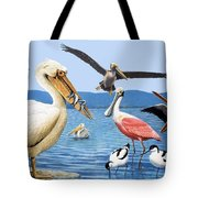 Birds with strange beaks Tote Bag by R B Davis
