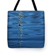 Black And White On Blue Tote Bag by Tom Vaughan