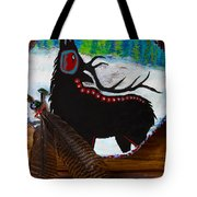 Black Elk Drum Painting Tote Bag by Karon Melillo DeVega
