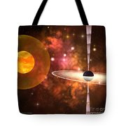 Black Hole Tote Bag by Corey Ford