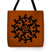 Black Ink Shape Tote Bag by Frank Tschakert