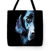 Black Labrador Retriever Dog Art - Hunter Tote Bag by Sharon Cummings