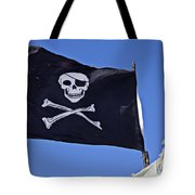 Black Pirate Flag  Tote Bag by Garry Gay