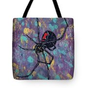Black Widow Tote Bag by Michael Creese