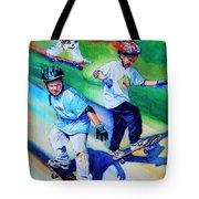 Blasting Boarders Tote Bag by Hanne Lore Koehler