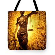 Blind Justice Tote Bag by Garry Gay