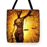 Blind Justice  Tote Bag by Garry Gay