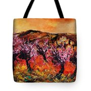 Blooming Cherry Trees Tote Bag by Pol Ledent