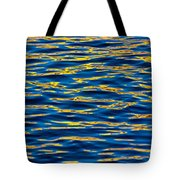 Blue And Gold Tote Bag by Steve Gadomski