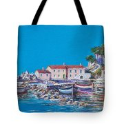 Blue Bay Tote Bag by Sinisa Saratlic
