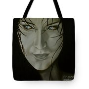 Blue-eyed Girl Tote Bag by Jindra Noewi