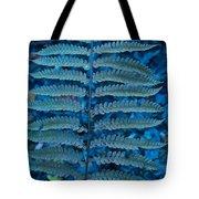 Blue Frond Tote Bag by Douglas Barnett