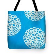 Blue Garden Bloom Tote Bag by Linda Woods