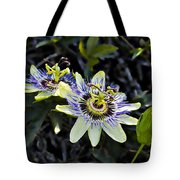 Blue Passion Flower Tote Bag by Kelley King