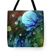 Blue Sapphire 1 By Madart Tote Bag by Megan Duncanson