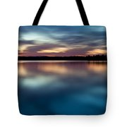Blue Skies Of Reflection Tote Bag by Jonas Wingfield