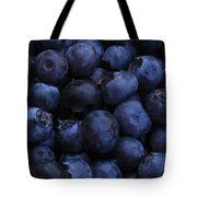 Blueberries Close-up - Vertical Tote Bag by Carol Groenen