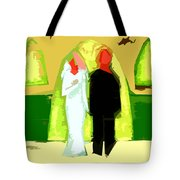 BLUSHING BRIDE AND GROOM 2 Tote Bag by Patrick J Murphy