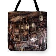 Boat - Block And Tackle Shop Tote Bag by Mike Savad
