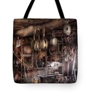 Boat - Block And Tackle Shop  Tote Bag by Mike Savad
