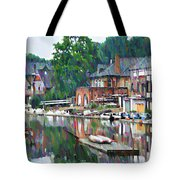 Boathouse Row In Philadelphia Tote Bag by Bill Cannon