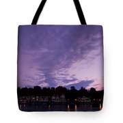 Boathouse Row In Twilight Tote Bag by Bill Cannon