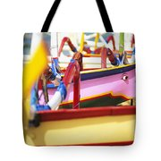 Boats In Bali Tote Bag by Dana Edmunds - Printscapes