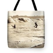 Body Surfing Family Tote Bag by Marilyn Hunt