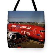 Boeing 737-7q8 Tote Bag by Tim Beach