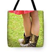 boot scootin' Tote Bag by Meirion Matthias