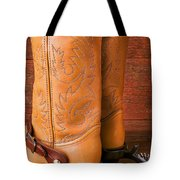 Boots With Spurs Tote Bag by Garry Gay