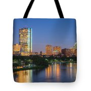 Boston Night Skyline II Tote Bag by Clarence Holmes