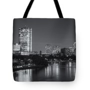 Boston Night Skyline V Tote Bag by Clarence Holmes