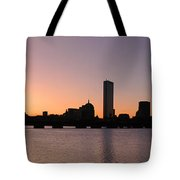 Boston Skyline Tote Bag by Juergen Roth