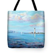 Boston Skyline Tote Bag by Laura Lee Zanghetti