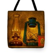 Bottles And Lamps Tote Bag by Evelina Kremsdorf