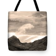 Boulder County Indian Peaks Sepia Image Tote Bag by James BO  Insogna