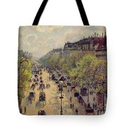 Boulevard Montmartre Tote Bag by Camille Pissarro