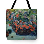 Bouquet of Flowers Tote Bag by Paul Gauguin