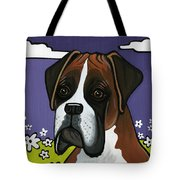 Boxer Tote Bag by Leanne Wilkes