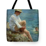 Boys Bathing Tote Bag by Henry Scott Tuke