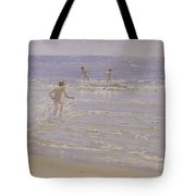 Boys Swimming Tote Bag by Peder Severin Kroyer