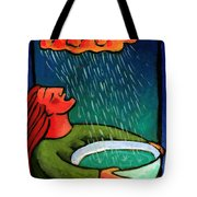 Brain Storm Painting 57 Tote Bag by Angela Treat Lyon