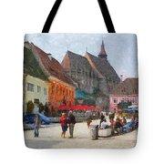 Brasov Council Square Tote Bag by Jeff Kolker