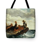 Breezing Up Tote Bag by Winslow Homer