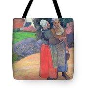 Breton Peasants Tote Bag by Paul Gauguin