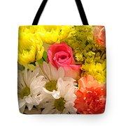 Bright Spring Flowers Tote Bag by Amy Vangsgard