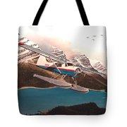 Bringing Home The Groceries Tote Bag by Marc Stewart
