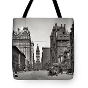 Broad Street Philadelphia 1905 Tote Bag by Bill Cannon