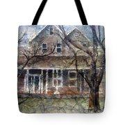 Brown Batik House Tote Bag by Arline Wagner